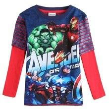Boys Long Sleeve T-shirts Print hulk avengers hulk captain america batman iron man t shirt