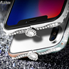 New High Quality Luxury Original Brand Alabasta Aluminum Metal Bumper For Iphone X Bling Diamond Glitter