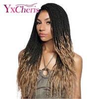 Sénégal torsion 18 ''synthétique Ombre tressage Extensions de cheveux Style bohème bouclés Crochet tresse cheveux