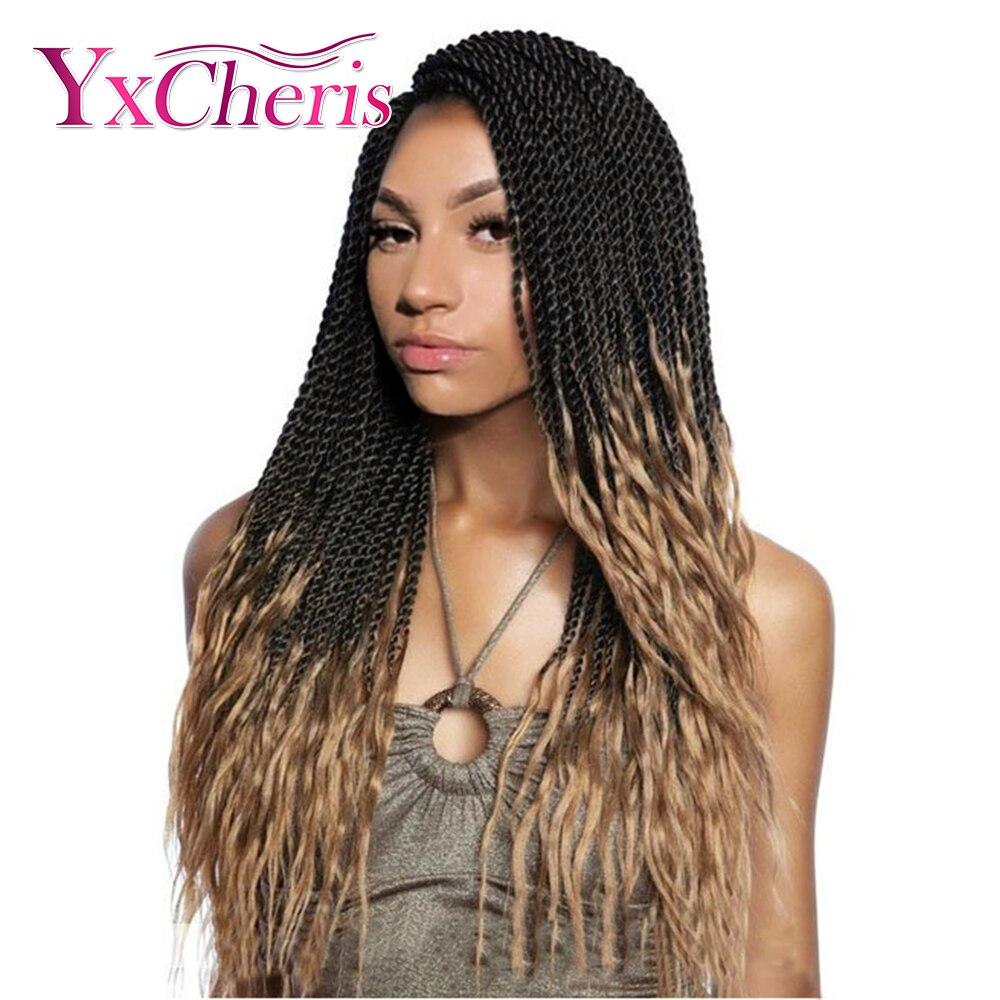 Senegal Twist 18'' Synthetic Ombre Braiding Hair Extensions Bohemia Style Curly Crochet Braid Hair