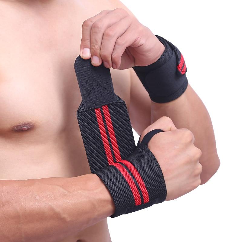 4e1d8a4a91c9 2 piezas muñequera levantamiento de pesas gimnasio entrenamiento muñeca  soporte correas Wraps ...