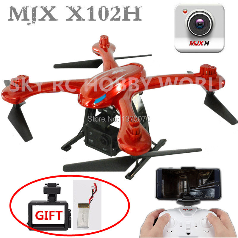 MJX X102H 2.4G RC Quadcopter Drone With Altitude Mode Air Pressure High Set FPV Wifi Camera One Key Return Take off Landing jjrc h12wh wifi fpv with 2mp camera headless mode air press altitude hold rc quadcopter rtf 2 4ghz