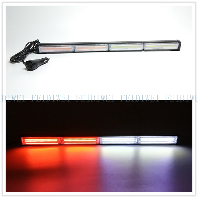 09094 COB LED 24 11Flashing Mode Emergency Warning Traffic Advisor Vehicle Strobe LED Light Bar-Amber for all 12V Vehicles COB