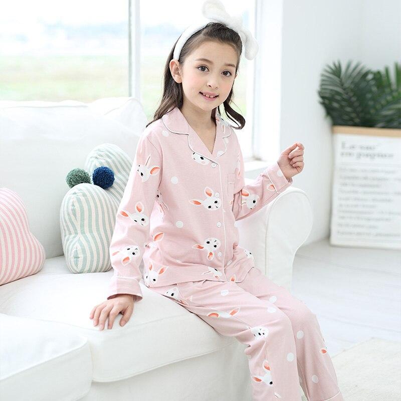 New Listing 2018 Children Clothing Autumn Pyjamas Girls
