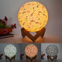 3D Painted Lunar Moon Lamp Children Gift USB Moonlight The Galaxy Sky Starry LED Creative Night Light Touch Remote Control colorful 3d led moon night light moonlight desktop lamp gradient decor flash light usb remote control 20cm drop shipping