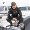 2017 Fashion Tight Joining Together Camouflage Hoodies Men Brand Zipper 2 Color