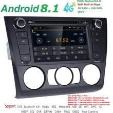 1 Din Android 8,1 автомобилей Радио gps мультимедийный dvd-speler Voor для BMW 1 серия E81 E82 E87 E88 I20 2004-2011 2G RAM 16G ROM BT Wi-Fi