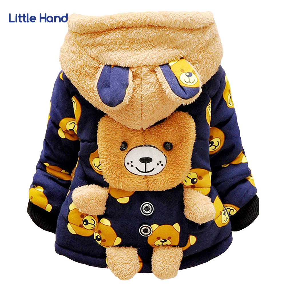 Baby Girls Boys Jacket Coat Kids Cartoon Bear Winter Warm Thick Cotton Hooded Parka Coat Clothing Christmas Outerwear New Year 2018 winter children boys parka jacket kids thicken warm 90% cotton camouflage hooded coat baby boys girls casual outerwear