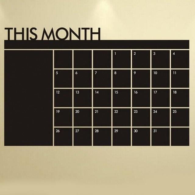 64*100cm monthly plan calendar chalkboard wall sticker memo