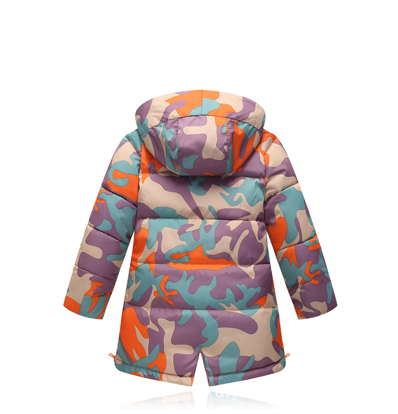На воронцовском напит девушки зимние пальто новый дизайн 2017 мода камуфляж длинные куртки хлопка сгущать детская одежда