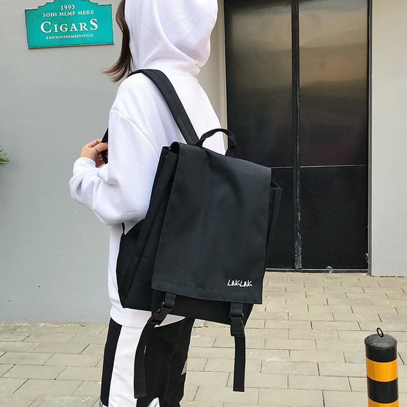 Harajuku Ulzzang Couple Backpacks Korean Style Women Men Backpack College School Bag For Teenage Girls Boys Mochilas Mujer 2019