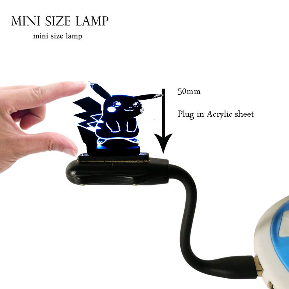 HOT SALE Japanese Cartoon Figure 3D LED USB Lamp Pokemon Go Game - Night Lights - Photo 6