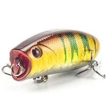 Top-Water Popper Fishing Lure Crankbait Carp Freshwater 55mm/11g Wobbler Trolling Sea Fishing Baits 3D Eyes Isca Artificial Lure sprut hiko 5 11g 55mm sbk 3d