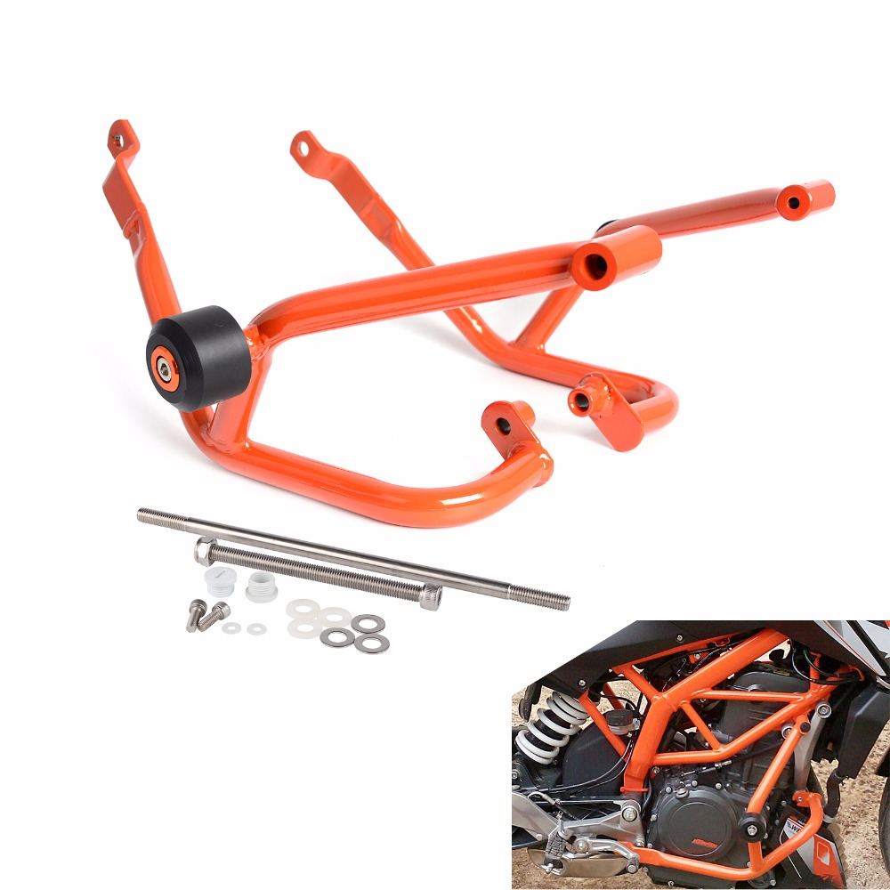 Motorcycle Engine Guard Crash Bars Frame Protector Bumper For KTM 125 200 Duke 2011 2012 2013 2014 2015 NEW high quality for bmw r1200gs 2013 2014 2015 motorcycle upper engine guard highway crash bar protector silver