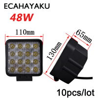 10PCS Lot 48W Car Spot Worklight Head Lamp Truck Motorcycle Off Road Led Lamp Tractor Car
