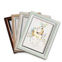 Marco de fotos multicolores estilo europeo Retro fotolijst 5-12 pulgadas marco de plástico preciosos marcos de fotos niños marco DE REGALO foto