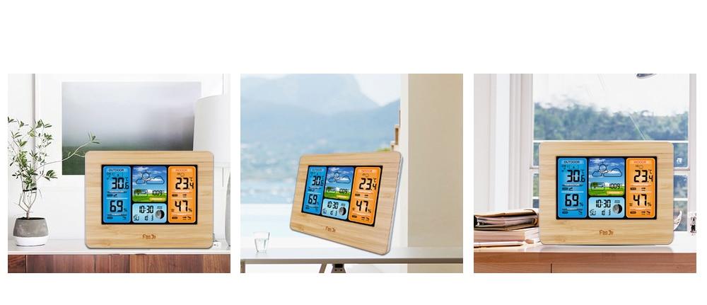 HTB1W pLV7zoK1RjSZFlq6yi4VXay FanJu FJ3373 Weather Station Digital Thermometer Hygrometer Wireless Sensor Forecast Temperature Watch Wall Desk Alarm Clock