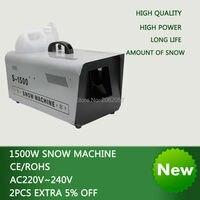 High quality 1500W Continuous DMX remote control snow machine disco dj stage lamp snow machine wedding snow machine