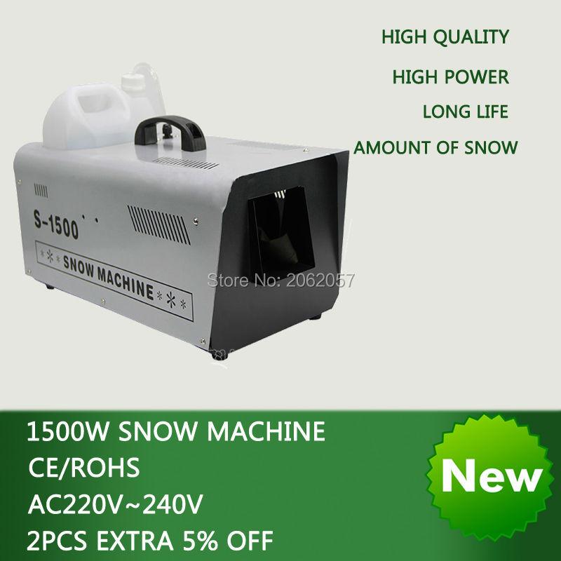 Kualiti tinggi 1500W Berterusan DMX kawalan jauh salji mesin disco dj panggung lampu salji mesin mesin perkahwinan salji