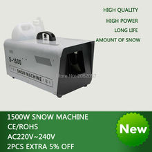 цена на High quality 1500W Continuous DMX remote control snow machine  disco dj stage lamp snow machine wedding snow machine