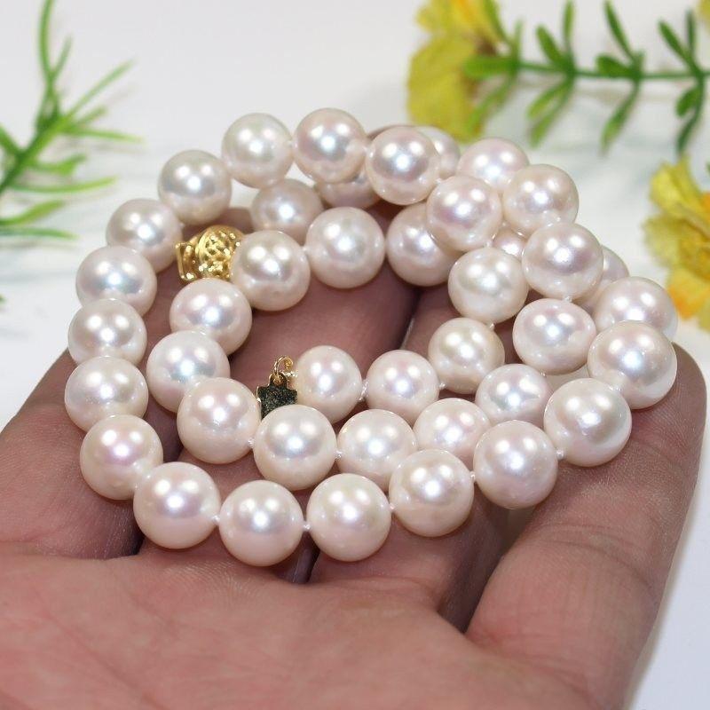 Prix de gros 16new ^ ^ ^ ^ nouveau femmes de cadeau AAA 9-10mm collier de perles de culture deau douce blanchePrix de gros 16new ^ ^ ^ ^ nouveau femmes de cadeau AAA 9-10mm collier de perles de culture deau douce blanche