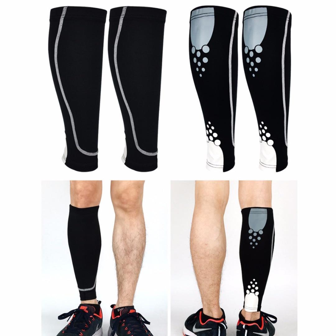 1Pcs Sports Leg Sleeve Sock Calf Compression Function Sleeve Knee Leg Support Brace Tape Guard Pads Brace Wrap Sleeve Protector