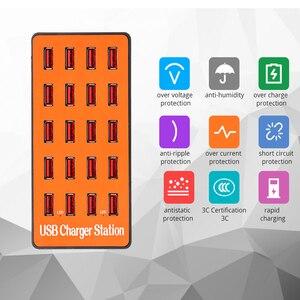 Image 2 - כוח אוניברסלי מתאם עם quicky תשלום 3.0 USB מטען 20 יציאות USB רכזת תחנת עבור iPhone7 8 8 בתוספת X iPad סמסונג Huawei