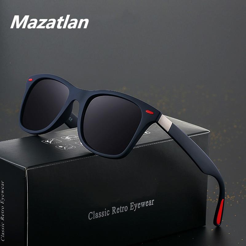 Classic Sunglasses Mens Polarized Brand Designer Sunglasses UV Protection Vintage Driving Goggles Rivet Male Cool Sun Glasses