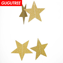 Decorate red pink blue gold yellow 4cm star banners wedding event christmas halloween festival birthday party PD-164