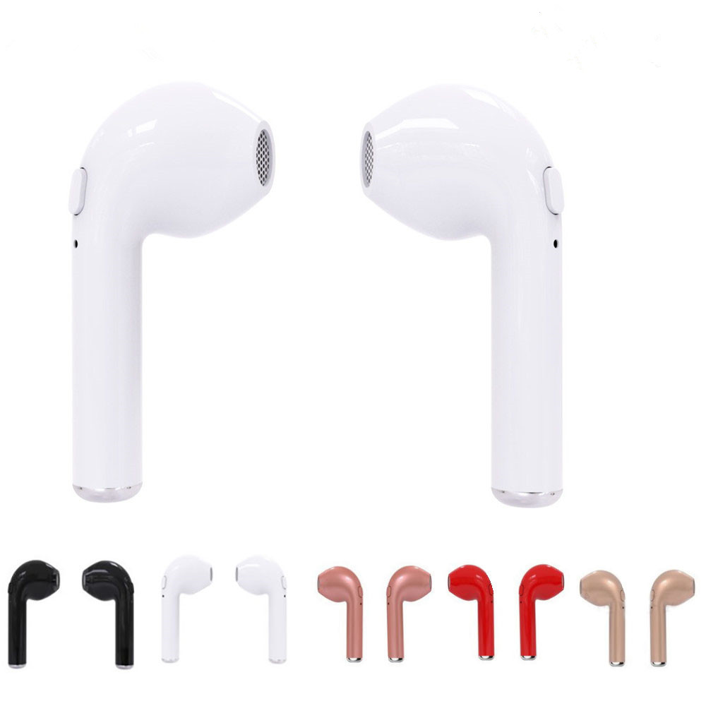 i7 TWS Twins true Wireless Bluetooth V4.2 Earbuds Mini Earphones Stereo Sports music Headset for Iphone 5 6 7s Xiaomi Samsung mini invisible twins true wireless bluetooth headset earphones csr 4 1 handsfree for iphone 7 plus samsung s6 xiaomi headset