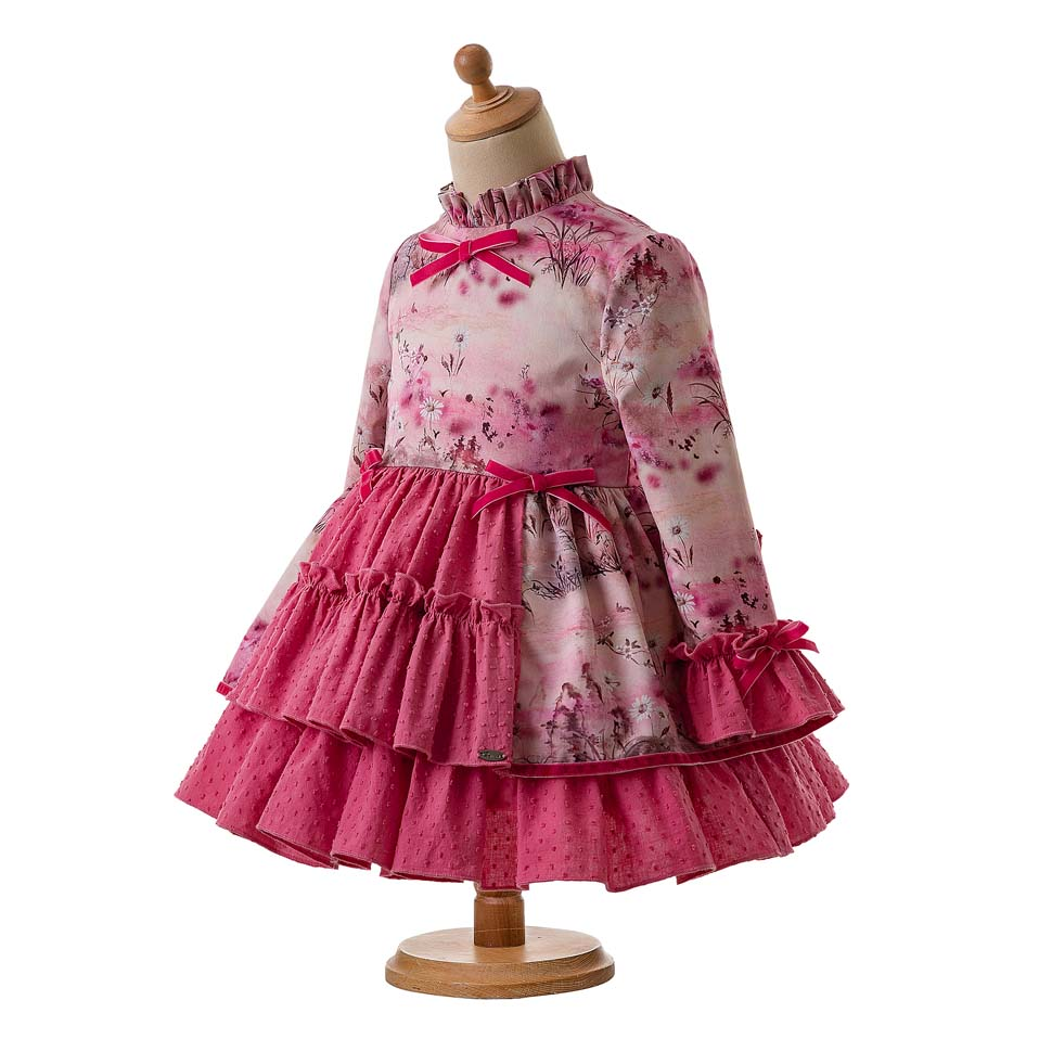 e34027e44 Pettigirl Latest Vintage Pink Flower Princess Party Baby Girl Dress Kids  Dresses For Girls With Headband And Bow G DMGD106 B342-in Dresses from  Mother ...