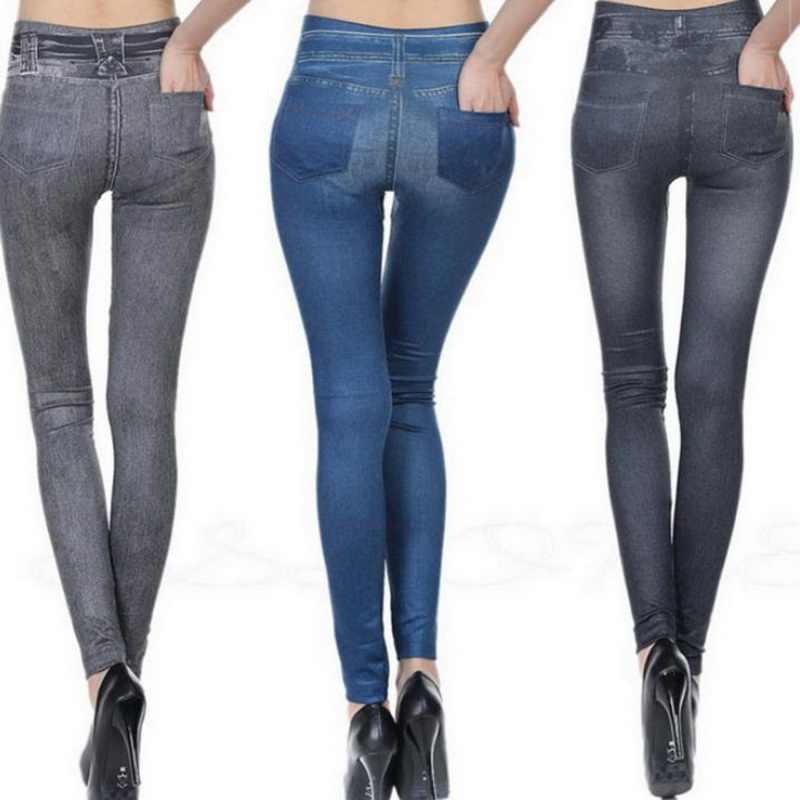 LASPERAL Горячие Джинсы для женщин для джинсовые штаны с карманами тянуть кашемир средства ухода за кожей имитация ковбой тонкие леггинсы для фитнеса