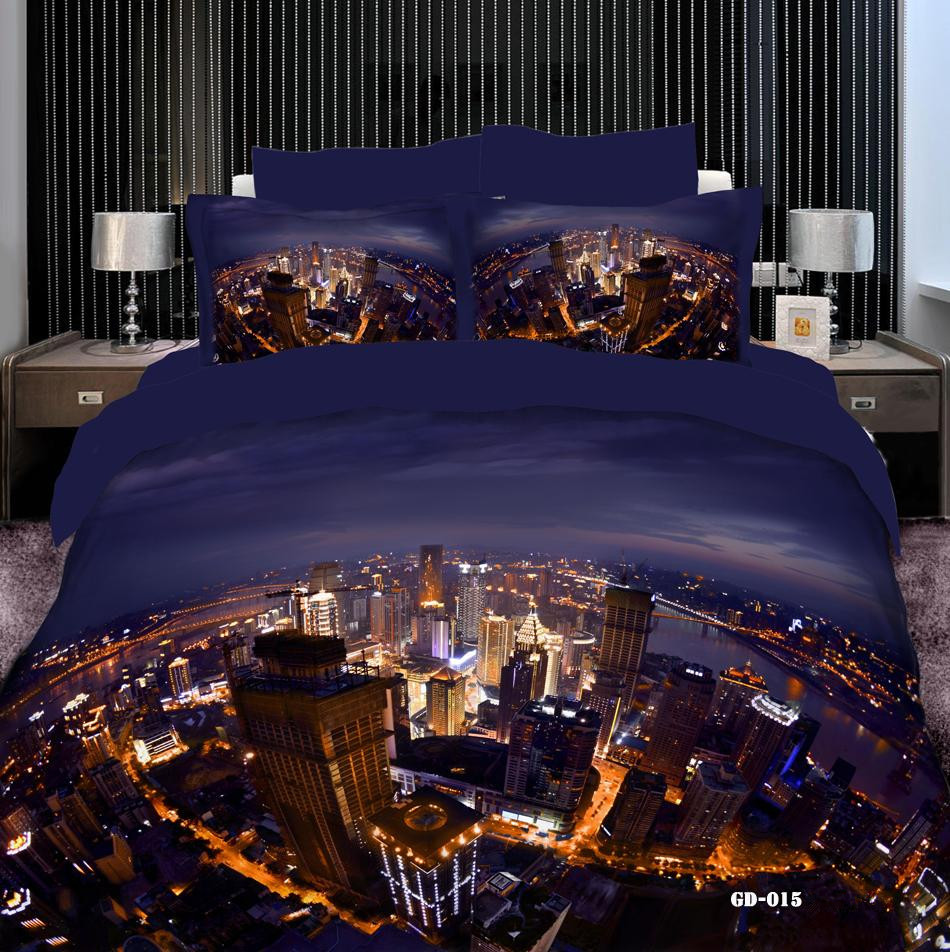 Top Fashion Luxury City Lights 3d Printed 7 Pcs Bedding Sets 100% Cotton  Quilt Duvet Cover Set Bed Sheets Queen Super King Size  In Bedding Sets  From Home ...