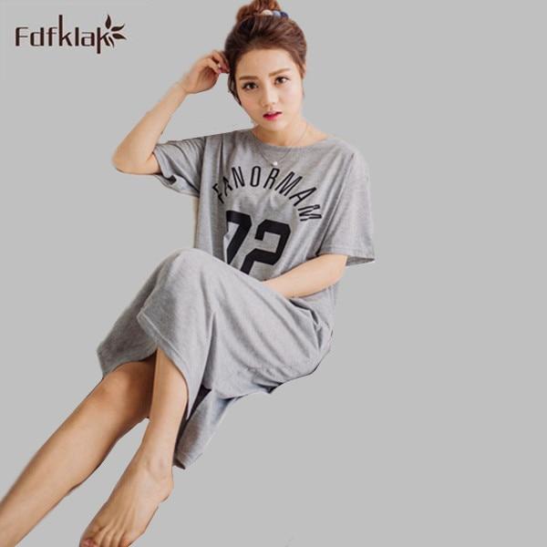 Female Summer Dress Plus Size Nightgowns Nightdress Female Cotton Sleepwear Night Dress Indoor Clothing Nightgown Cotton E0089