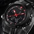 Brand  Watches men luxury Full Steel Quartz Clock LED Digital Watch Army Military Sport wristwatch relogio masculino