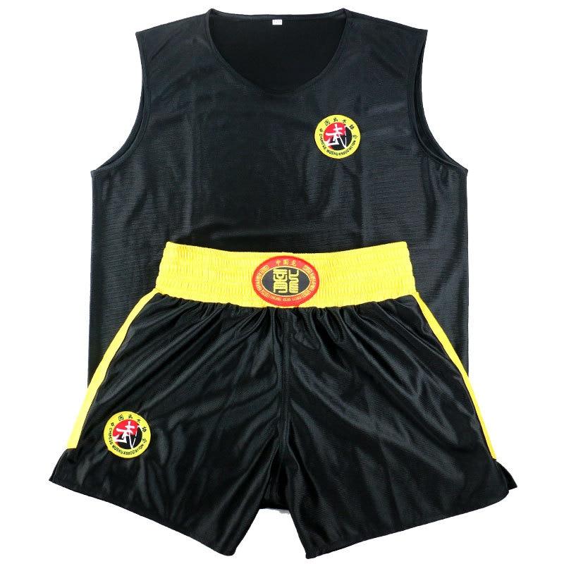 Sanda Sets Kongfu Wushu Suit Muay Thai Boxeo MMA Clothes Taekwondo Boxing Clothes Sets Shorts+Jersey Martial Arts Kid To Adult