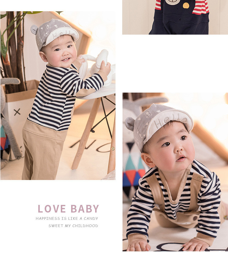bf391448e362 ₪Baby Rompers Spring Baby Boys Girls Clothes Cartoon Bear Casual ...