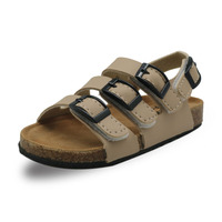 Child Footwear For Children Cork Rubber Sandals Girls Boys Sandals Breathable Flats Shoes Summer Comfortable PU Leather Sandal