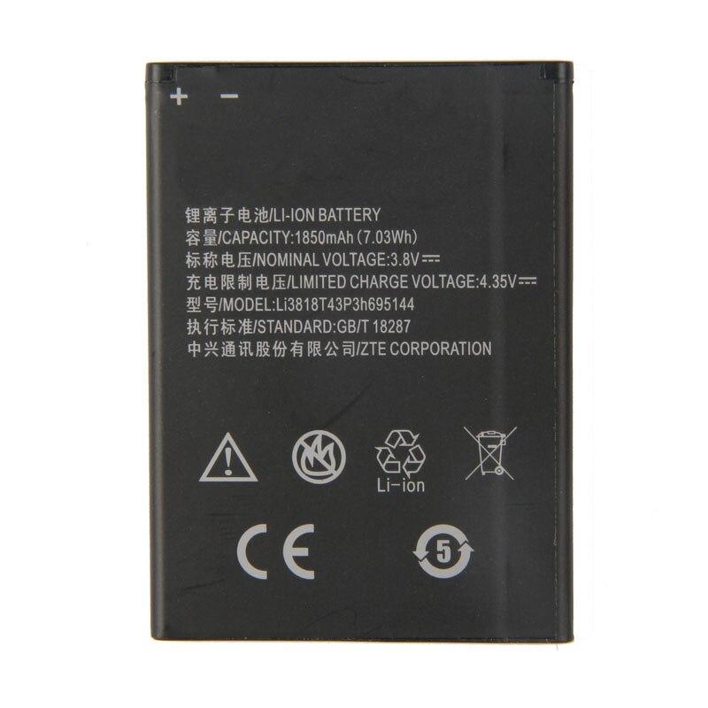 Оригинальный аккумулятор большой емкости Li3818T43p3h695144 для телефона ZTE Blade G Lux V830w Kis 3 Max, 1850 мАч