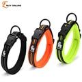 Quality 3M Reflective Dog Collars Adjustable Pet Cat&Dog Collar Outdoor Trainning Soft Air Mesh Padded Brand Pet Product XXS-3XL