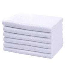 SINLAND Premium Microfiber Washcloth Waffle Weave Facial Cleansing Cloth Body Cloths 6 Pieces 13 Inchx13 Inch Cream