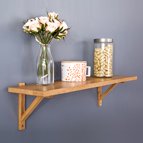 Pure white oak wood clapboard wall shelf TV cabinet shelf word top ...