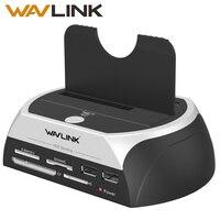 Wavlink USAP HDD Docking Station 2.5/3.5 SSD SATA External Hard Disk Drive Enclosure Base Box 8TB Dock USB2.0 Hub Card Reader