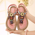 35-41 Size woman gladiator sandals women sandal flip flops open toe wedges summer shoes new 2016 Bohemian beaded flat sandals