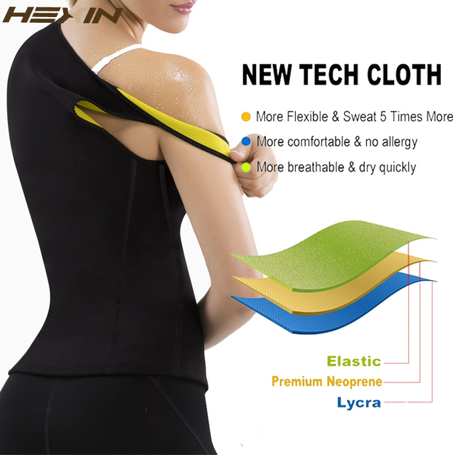 ef30372ae6144 Home   HEXIN Plus Size Neoprene Sweat Sauna Hot Body Shapers Vest Waist  Trainer Slimming Vest Shapewear Weight Loss Waist Shaper Corset