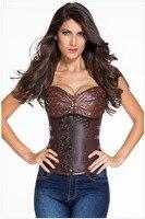 Steampunk stile di modo delle donne clip da cintura corsetto vita trainer girly rivelato affascinante figura corsetto espartilho corpetto