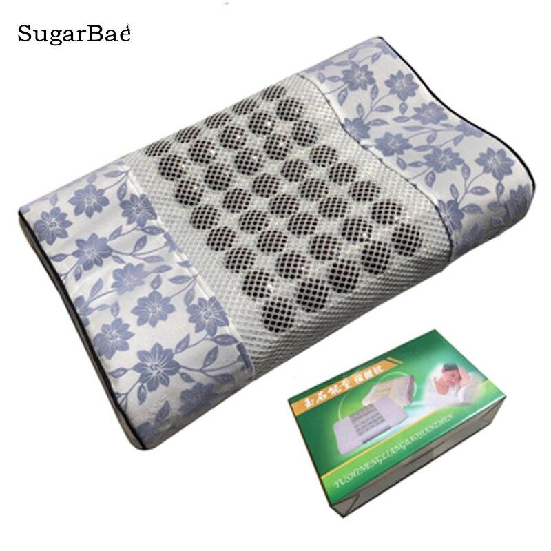 Jade Stone Massage Pillow Tourmaline Cushion with Box Package For SaleJade Stone Massage Pillow Tourmaline Cushion with Box Package For Sale