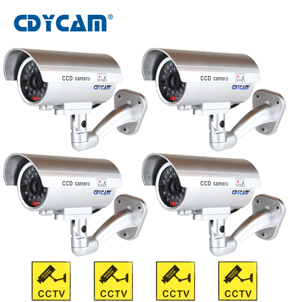Image 2 - 3pcs(1 bag)Waterproof Dummy CCTV Camera With Flashing LED Light For Outdoor or Indoor Realistic Looking fake Camera for Security-in Surveillance Cameras from Security & Protection