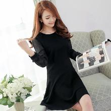 plus size 2017 women's sexy casual dresses vestidos females sweet full puff sleeve dress femininos basic dresses one-piece dress