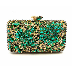 Hollow Out gold Evening Socialite Crystal Clutch  1